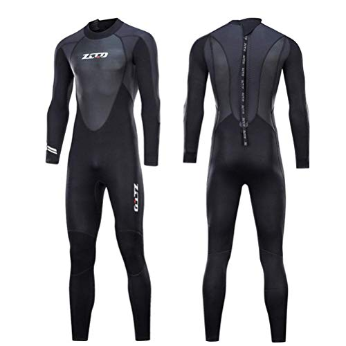 Traje de neopreno unisex de 3 mm, neopreno ultra elástico de alta calidad, traje de buceo para pesca submarina y snorkel, surf, canoa, buceo (hombre y M)