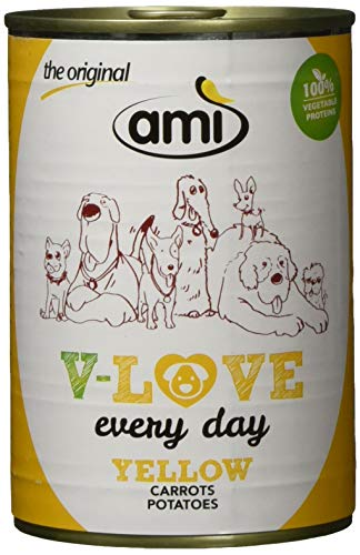AMI veganistisch natvoer voor honden V-Love Yellow, 12 x 400 grams)