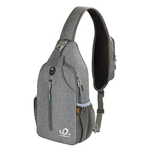 Waterfly Crossbody Sling Backpack Sling Bag Travel Hiking Chest Bags Daypack (Dark gray)