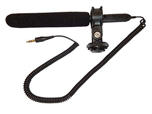vhbw Micrófono Externo Compatible con Canon EOS 5D Mark II, 5D Mark III, 7D, 50D, 550D, 60D,600D; Jack de 3,5 mm para cámara de vídeo