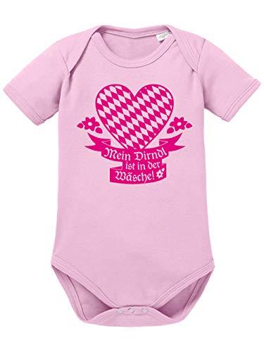 clothinx Baby Body Bio Oktoberfest Mein Dirndl ist in der Wäsche Hellrosa/Pink Größe 74-80