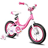 JOYSTAR 12 Inch Kids Bike with Training Wheels for 2 3 4 Years Old Girls, Toddler Cycle for Early...
