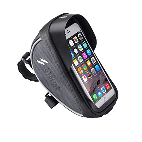 Lowest Prices! FEDULK Cycling Black Bike Bicycle Handlebar Bag Waterproof Fit Below 6 Inches Phone