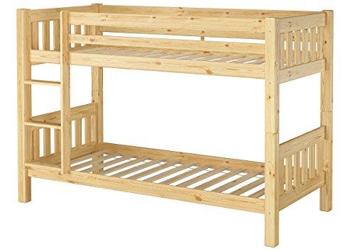 Erst-Holz® Kinderetagenbett massiv Kiefer Kinderzimmer 90x200 Stockbett Hochbett Kinderbett + Rollrost 60.06-09