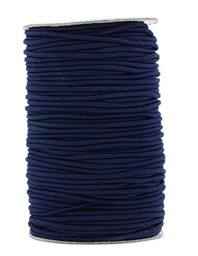 Mandala Crafts Elastic Cord Stretchy String for Bracelets, Necklaces, Jewelry Making, Beading, Masks (Navy Blue, 2mm 76 Yards)