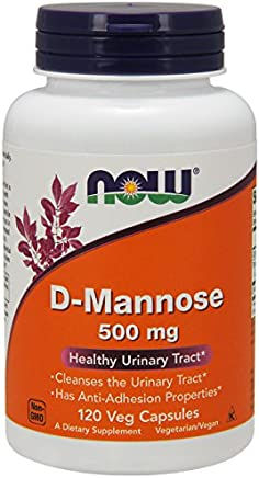 NOW® D-Mannose, 500 mg, 120 Veg Capsules