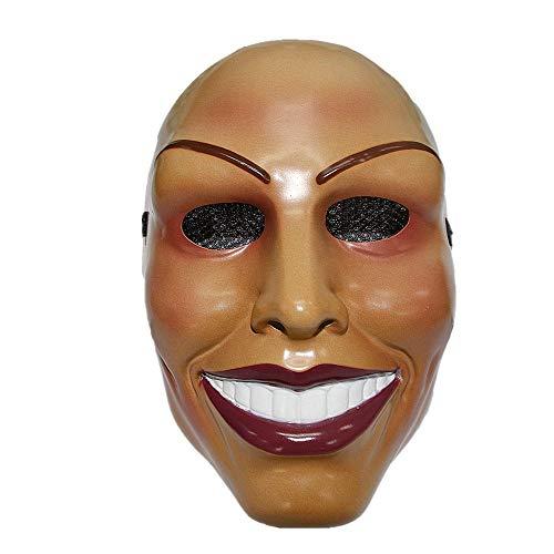 """The Rubber Plantation™ Maske """"The Purge"""", lächelnde Frau, Halloween-Maske für Erwachsene, Unisex, Einheitsgröße, 619219292160"""