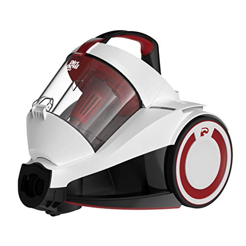 Dirt Devil DD2424-0 Rebel 34 Singlecyclone Staubsauger (700 W Hocheffizienzmotor, 1,8 L, HEPA Media Ausblasfilter, ohne Beutel) polar-weiß