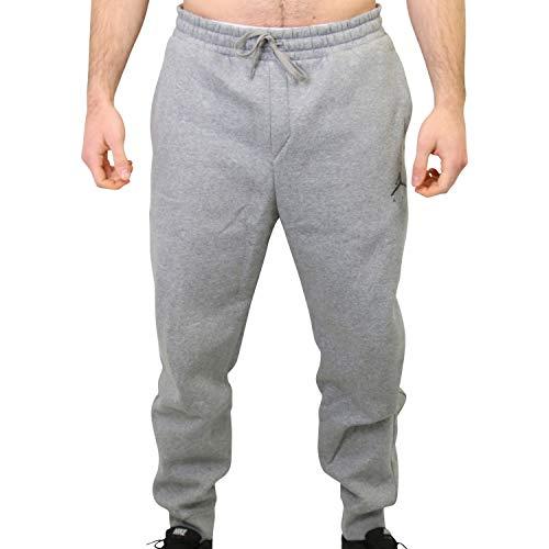 Nike Herren M J Jumpman Fleece Pant Sport Trousers, Carbon Heather/Black, L