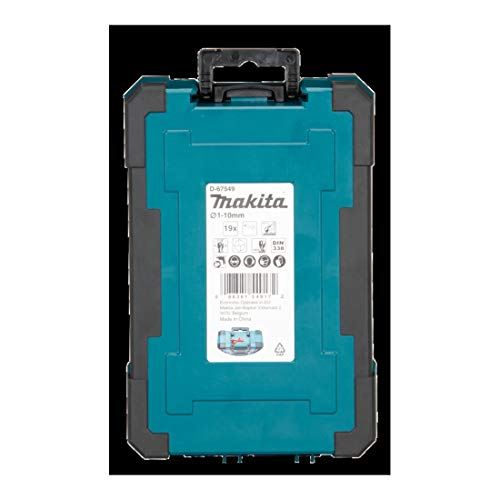 Makita D-67549 Drill Bit Set HSS-G 19 Pieces