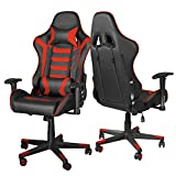 Gaming Chair Computer Game Chair - Ergonomic Office Chairs Adjustable Swivel Multifunctional Desk Chair with Headrest and Lumbar Support Video Game Chairs (Black & Red)