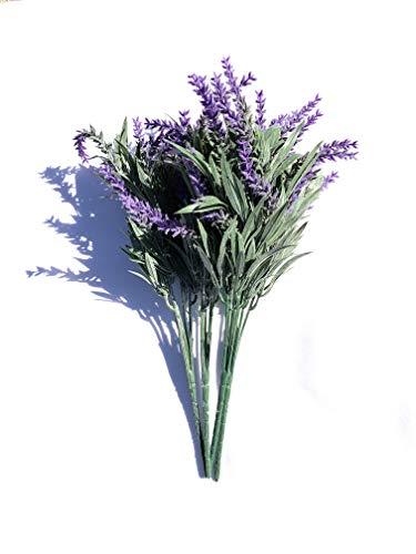 WINOMO - Ramo de flores artificiales de lavanda para novia, hogar, jardín, oficina, boda, decoración, color morado