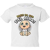 Camiseta niño nacido para ser del Alba Albacete fútbol - Blanco, 3-4 años