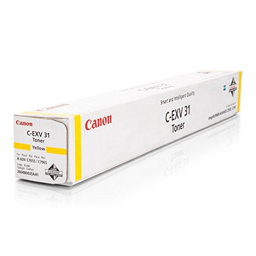 Canon 2804B002 / C-EXV31Y - Cartucho de tinta original para impresora imageRUNNER Advance C 7065, 52000 páginas, color amarillo
