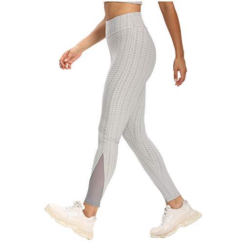 Pantalones de Yoga con Burbujas Jacquard de Fitness para Mujer, Pantalones Deportivos...