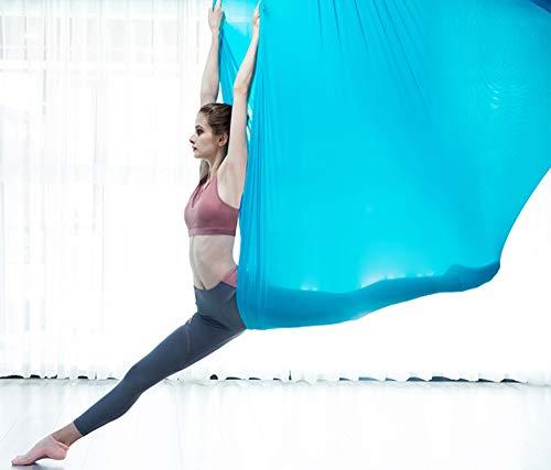 Tuoza yoga-hangmat, hoge hoogte, yoga-hangmat, anti-schommel-accessoires, vaste plaat van roestvrij staal, handtouw voor thuis