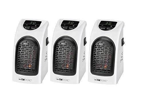 Clatronic HL 3738 Mobiler, kompakter Steckdosen-Heizlüfter mit 2 Gebläsestufen, hochwertiges PTC-Heizelement, LED-Display-und Kontrollleuchte, 12 Stunden-Timer, weiß (3)