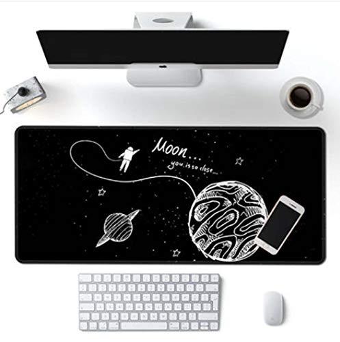 Alfombrilla de ratón grande para juegos con base antideslizante, alfombrilla de escritorio extendida, gruesa, cómoda, plegable, portátil, 57 x 33 cm