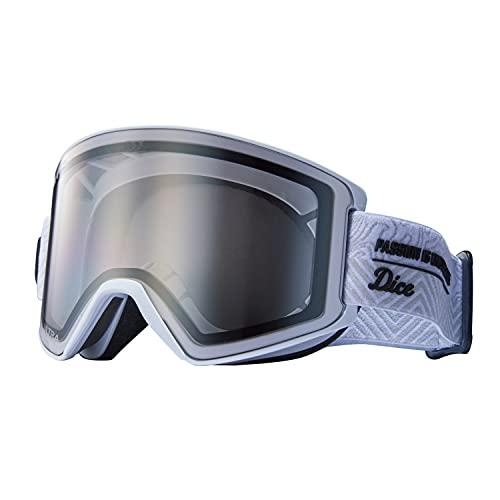 DICE (ダイス) スノーゴーグル SHOWDOWN ショーダウン SD14570 W ライトシルバーミラー×ULTRAライトグレイ調光 日本製 スキー スノーボード