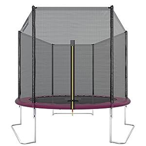 Ultrasport Cama elástica de jardín Uni-Jump Trampolín Infantil, certificación Intertek GS, con Superficie de Salto, Red de Seguridad, Unisex Niños, Rosa, 251 cm