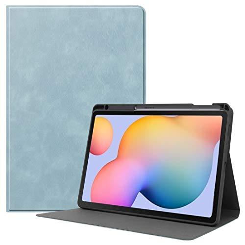 MDYHMC YXCY AYDD para Samsung Galaxy Tab S6 Lite P610 / P615 Textura de Cuero de Vaca TPU Tablet Horizontal Flip Funda de Cuero con Titular y sueño/función de Despertador y Ranura del lápiz