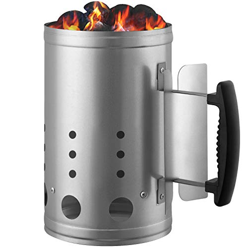 Charcoal Chimney Starter BBQ Grill Lighter Barbecue Fire Starter Grilling for BBQ Charcoal Grill...
