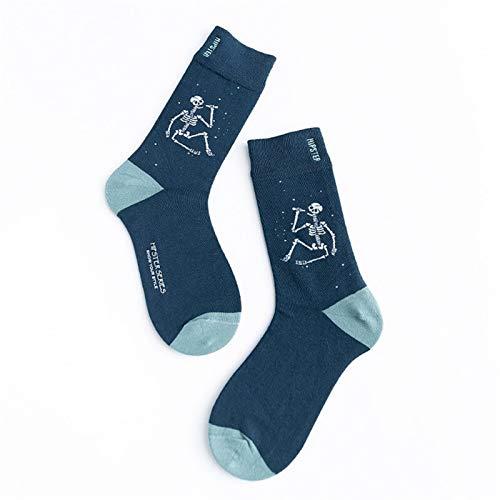 Witou Unisex Pintura Regalos Estilo de los Hombres Calcetines de algodón de Colores Harajuku Completa Calcetines Hombres 1 par Tamaño 36-44, Comodidad y Ocio (Color : 8107 3, Size : Size 36 44)