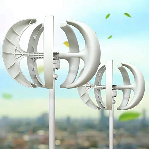 Generatore eolico turbina Lanterna tipo 5 blade 600 W 12 V bianco girandola verticale Axis Lanterna Generatore eolico con controller