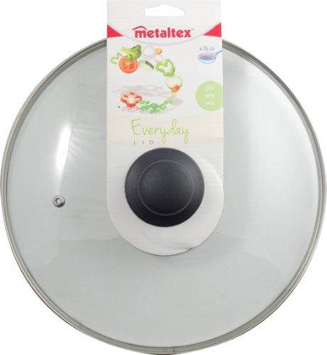 Metaltex Everyday – Couvercle en verre avec bouton 26 cm vert lime