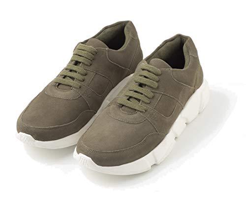 TEX - Zapatos Deportivos De Cuero para Hombre, Caqui, 43 EU