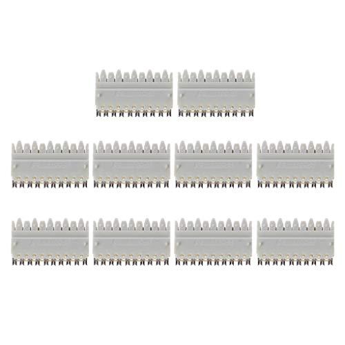 10 piezas 110 tipo 5 pares de módulos de teléfono hembra Rj45 para distribuidor de marco, cierre de resorte con corona, artículo Voice Line chapado en plata CopperTerminal Block cable Ethernet