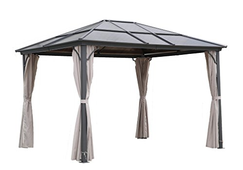osoltus Aluminium Gartenpavillon Hardtop Polycarbonat 3x3,6 wasserdicht