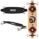 Hansson.Sports Top Longboard Komplett Skateboard Long Board 39' (99cm) Ecstasy