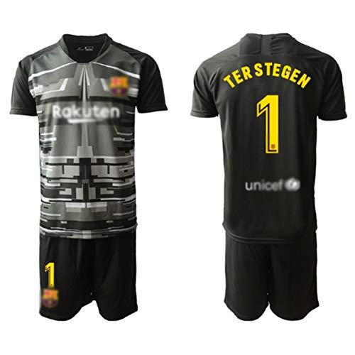 T-Shirt Und Hose Set Torwarttrikots,# 1 TER Stegen,Fußballtrikot,Geeignet Für Erwachsene Und Kinder,T-Shirt + Shorts(Replik)