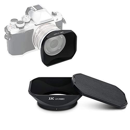 JJC Gegenlichtblende mit Deckel für Olympus M.Zuiko Digital 17 mm f/1.8 Objektiv DSLR-Kamera, ersetzt Olympus LH-48B