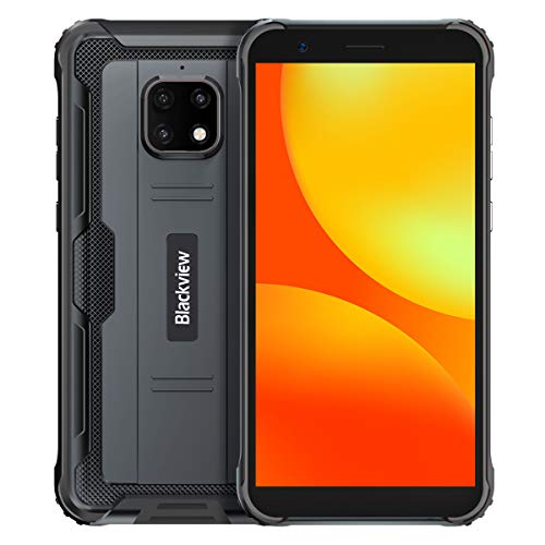 【2021】 IP68 Móvil Resistente Blackview BV4900 Pro, Android 10 4G Telefono Antigolpes, 4GB RAM 64GB ROM Extensión 256GB, Pantalla 5.7', Cámara Impermeable 5MP+13MP, NFC Dual SIM, Batería 5580mAh Negro