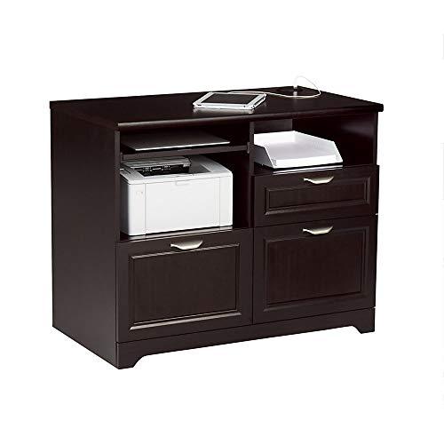 "Realspace Magellan 36""W Tech Station Printer Stand 2.0, Espresso"