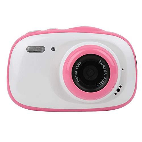 Wosune Cámara para niños de 2 Pulgadas, cámara para niños, cámara Digital para niños con Zoom 6X Cámara Impermeable para niños Cámara para niños con Zoom 6X para niños Entusiasta de(Pink)