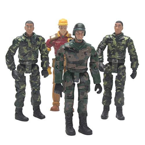 4 stücke Action Figure Soldat Puppe Spielzeug, Armee Soldaten Spielsets mit Waffe für WPL Rc Auto Dekoration