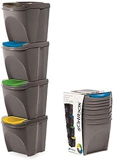 Stolmet Cubo de Basura de plástico con Tapa abatible de 20