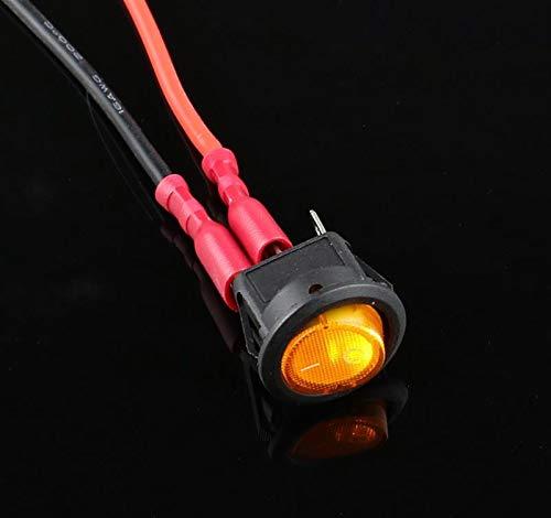 1PCS 12v LED Interruptor Interruptor 20A 12V Luz de Encendido Botón de inactividad Car Luces de Encendido/Apagado 3 Pines Interruptor Redondo Rocker para Coche camión Barco Autocaravana