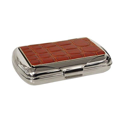 1oz Tobacco Tin Red Mock Croc Leather