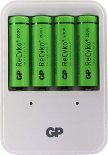 GP Recyco+ Powerbank 420 + 4 AA Ladegerät