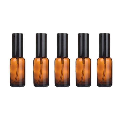Hemoton 5 pcs Portable en Verre Bouteille Vide Durable Bouteilles D'huile Essentielle Parfum Distributeur Lotion sous-Emballage Bouteille pour Voyage À Domicile (30 ML Spray)
