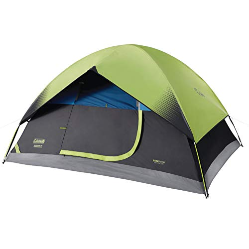 Coleman Dome Camping Tent | Sundome Dark Room Tent with Easy Set Up