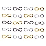 PandaHall Elite 20 Stück Legierung Unendlichkeit Symbol Infinity Anhanger Verbinder Verschluss Gemischte Farbe