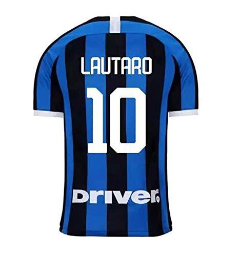 Milano voetbal trui, volwassen voetbal kleding, 19-20 Home and Away 10# LAUTARO 9 # LUKAKU Vest Kit, zacht en comfortabel trainingskamp voetbal T-Shirt