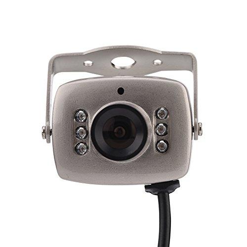 Vbestlife Mini CMOS Cámara de Seguridad de Visión Nocturna 6LED con Cable Cámara Exterior de Vídeo Digital Imagen Full HD PAL/NTSC para Casa,Supermercado,Hogar(PAL)