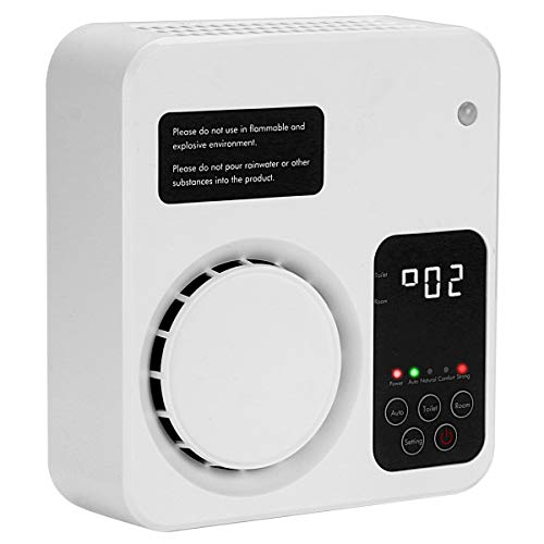 YCD Generatore di ozono ionizzatore purificatore d'aria per la casa della camera da letto e del WC dell'ufficio Kichen (bianca)