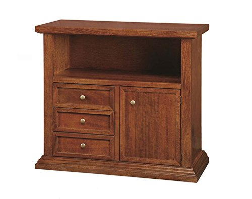 Meuble TV TV 3 tiroirs 1 porte en bois Arte Povera